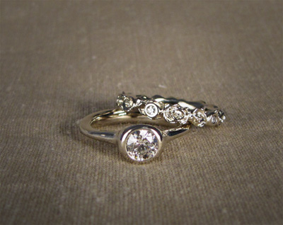 Diamond Wedding Set (60pt diamond)