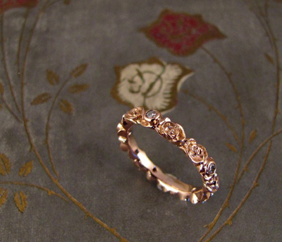 Rosy Eternity Band; 18K rose gold