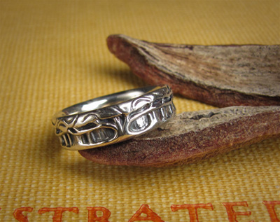 Forest of Trees Ring; sterling silver